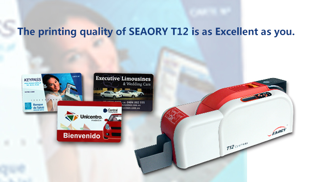 seaory t12 card printer quality is reflected in detail custom kiosk
